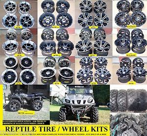 "25"" Polaris RZR Reptile Radial ATV Tire ITP SS Wheel Kit Lifetime Warranty"