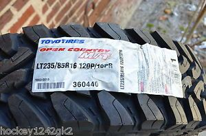 2 New Lt 235 85 16 Toyo Open Country M T 10 Ply Mud Tires