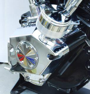 Harley Retro Distributor Cam Cover Chome