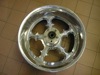 """Arlen Ness Jagged Chrome Rear Wheel 18""""x8 5"""" for Any Victory Fat Tire Bike 250mm"""