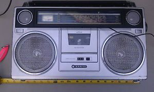 RARE Sanyo M9940K Portable Boombox Radio Cassette Player Ghettoblaster Japan