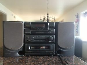 Aiwa NSX 3100 Two Cassette – One CD Player Boombox Stereo System