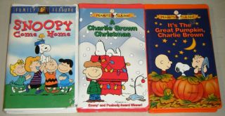 A Charlie Brown Christmas Vhs.Peanuts 3 Vhs It S The Great Pumpkin Charlie Brown A Charlie