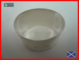 Oval Shaped Solid Sterling Silver Napkin Ring Hallmarked 1931 Kemp Brothers