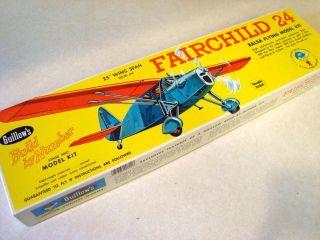 Guillows Fairchild 24 Balsa Model Airplane Kit
