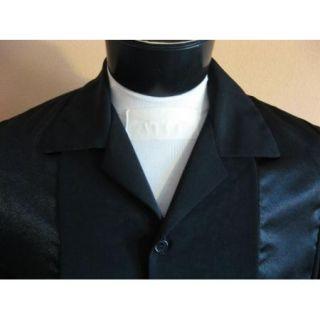 New 50s Rockabilly Retro Hipster Black on Black Panel Bowling Shirt XXL 2XL