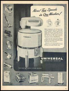 1946 Vintage Ad for Universal Wringer Washing Machine
