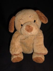 Ty Pluffies Puppers Brown Puppy Dog 2003 RARE Plush Toy
