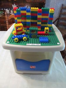 Lego Duplo Step 2 Building Storage Table 100 Blocks