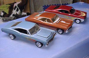 3 Vintage 1965 1966 1967 1970 68 Chevrolet Impala Model Kits Chevy SS Built