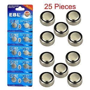 25x LR44 A76 L1154 AG13 357 357A SR44 303 1 5V Alkaline Button Coin Cell Battery