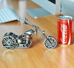 Motorcycle Metal Art Model Craft Chopper Harley Handmade from Scrap Car Parts