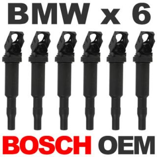 6 Bosch Direct Ignition Coil Set for BMW E90 E60 with Spark Plug Boot Clip
