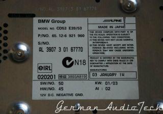 BMW Business CD Player Radio Stereo 1996 2003 E39 5 Series 540 M5 E53 x5 CD53