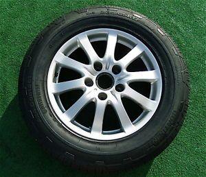 4 Genuine Original Factory Porsche Cayenne 17 inch Wheels Continental Tires