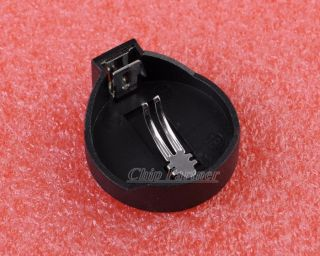 10pcs CR2025 CR2032 Button Coin Cell Battery Socket Holder Case Black