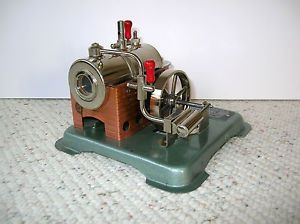Vtg Dry Fuel Fired Metal Toy Steam Engine Model Style 60 Jensen Mfg Co PA