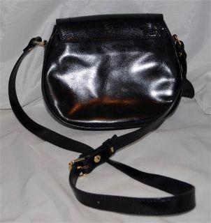 Sachs Lederwaren Black Smooth Leather Shoulder Bag with Adjustable Strap