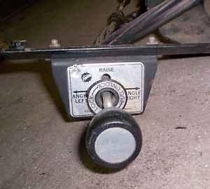 """Fisher Speedcast Snow Plow Joystick Lever Controls with Bracket 90"""" Cables"""