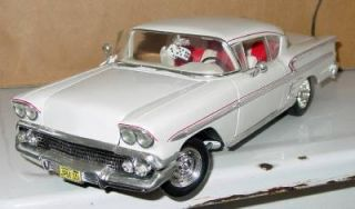 Ertl 1958 Chevy Chevrolet Impala 1 18 Scale White Die Cast Car Loose