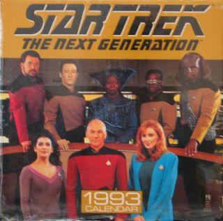 Star Trek The Next Generation 1993 Wall Calendar Pocket Books SEALED Unused