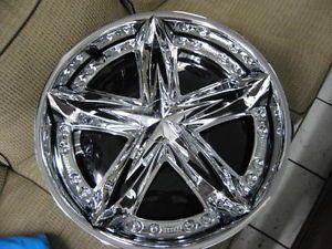 "22"" Dub Shaolin Spinner Rims Tires Floaters Forgiato asanti Davin MHT Diablo"