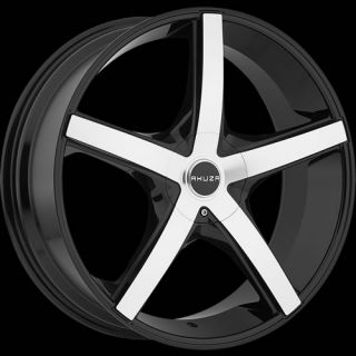 20x8 5 Machined Black Wheel Akuza Axis 848 5x112 5x120