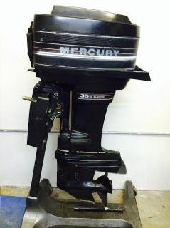 1986 Mercury 35 HP 2 Stroke Outboard Motor Boat Engine 40 60 20 Water Ready