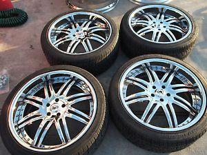 "22"" Chrome asanti Wheels Tires Rims Range Rover Sport HSE LR3 LR4 Discovery II"