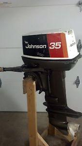 Johnson 35 HP Outboard Motor Boat Engine 20 25 28 35 40 Manual Start