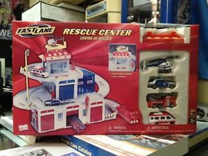 Fastlane Rescue Center Ambulance Fire Truck Police Car Helicopter FD PD Station