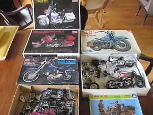 Lot Harley Davidson Model Motorcycle Parts Fat Bob WLA 45 Glide 2 Police Bike