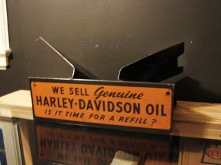 Scarce Harley Davidson Motorcycle Oil Parts Catalog Display Rack Complete Sign