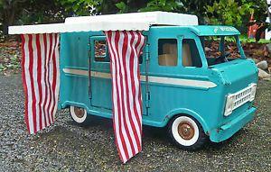 1960s Structo Weekender camper Van Truck Pressed Steel Vintage Old Parts