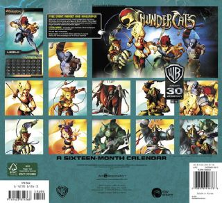 Thundercats Animated Art 16 Month 2013 Wall Calendar New SEALED