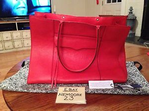 Rarely Used Rebecca Minkoff MAB Tote Fire Engine Red