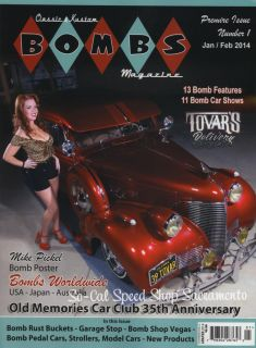 Bombs Magazine Hot Rod Rat Custom Pin Up Gasser Bobber Rockabilly Lowrider