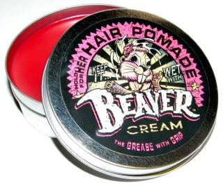 Beaver Cream Womens Hair Pomade Grease Wax Rockabilly Pompadour VLV Pinup Style