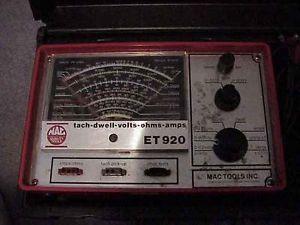 Mac Tools ET920 Tach Dwell Volts Ohms Amps Meter