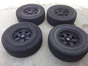 Procomp All Terrain 4 Tires 35 x 12 50 R 17 Wheels Black Alloy Cast 7089 17x9