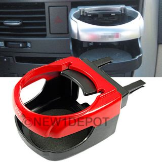 Red Car Air Condition Vent Mount Drink Cup Bottle Holder Clip Universal for Audi
