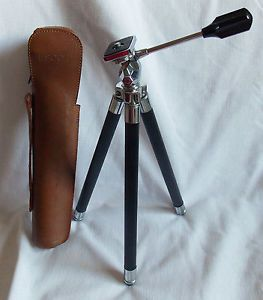 Escot Telescopic Tripod Vintage Camera Accessory Leather Case
