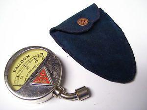 Vintage Old Acme Tire Air Pressure Gauge Brass Car Automobile Auto Accessory