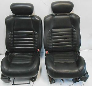 Ford F150 F 150 Harley Davidson Front Bucket Seat Seats Black Leather 97 03