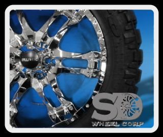 "20"" Ballistic Wizard w 295 55 20 Nitto Trail Grappler Tires Chrome Wheels Rims"