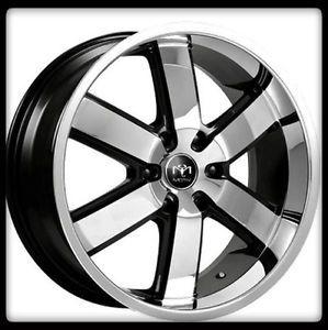 """20"""" x 8 5"""" Motiv Magnum 403CB 5x120 MDX Corvette Camaro Chrome Black Wheels Rims"""