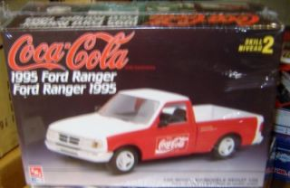 AMT Ertl H863 Plastic Model Kit 1995 Ford Ranger Coca Cola Factory SEALED 1 25