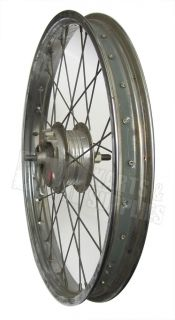 "17"" Rigida Moped 28 Spoke Front Wheel Rim w Leleu Brake Mini Vintage Bike New"