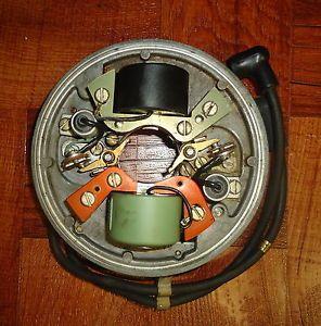 Vintage 1957 7 5HP OMC Evinrude Johnson Outboard Magneto w Coils Spark Plug Wire