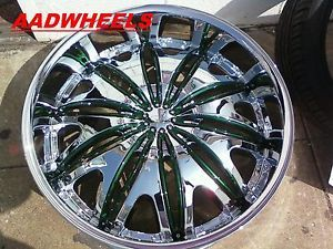 """Velocity V820 26"""" Wheels Rims Tires Fitchevy Cadillac GMC Ford Old School Cars"""